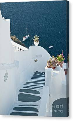 Stepsofsantorini Canvas Print