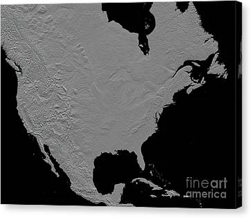 Stereoscopic View Of North America Canvas Print by Stocktrek Images