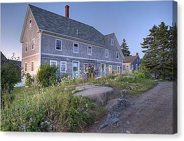 Sterling Harbor House Canvas Print by J R Baldini Master Photographer
