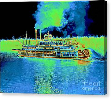 Stern-wheel Steamboat Belle Of Calhoun 1906 Canvas Print by Padre Art