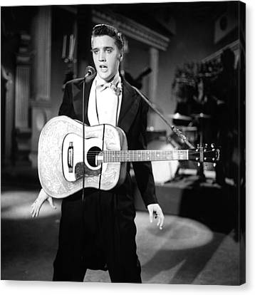 Steve Allen Show, 1956-61, Elvis Canvas Print by Everett
