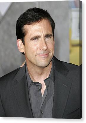 Steve Carell At Arrivals For Dan In Canvas Print