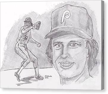 Steve Carlton- Lefty Canvas Print by Chris  DelVecchio