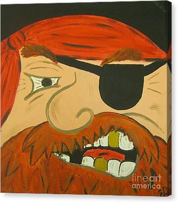 Missing Teeth Canvas Print - Steve The Pirate by Eva  Dunham