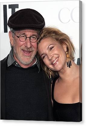 Steven Spielberg, Drew Barrymore Canvas Print