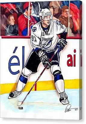 Nhl Hockey Canvas Print - Steven Stamkos by Dave Olsen