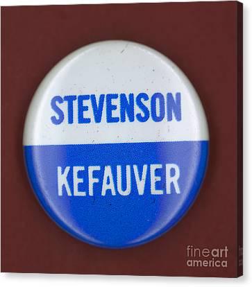 Stevenson Campaign Button Canvas Print by Granger