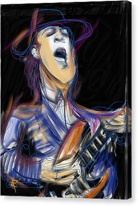 Stevie Ray Canvas Print by Russell Pierce