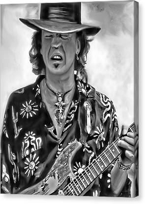 Stevie Ray Vaughan 1 Canvas Print by Peter Chilelli