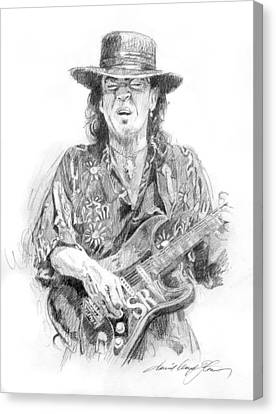 Stevie's Blues Canvas Print by David Lloyd Glover