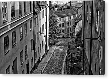 Canvas Print featuring the photograph Stieg Larsson's Stockholm by Nancy De Flon