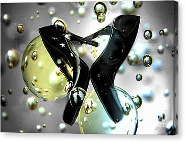 Stilettos Night Out Party Shoes Canvas Print by Linda Matlow
