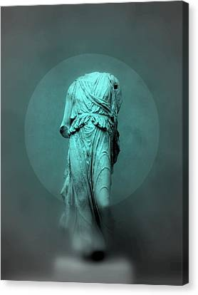 Still Life - Robed Figure Canvas Print by Kathleen Grace
