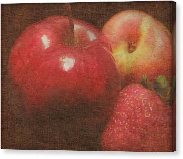 Still Life Fruit Canvas Print by Cindy Wright