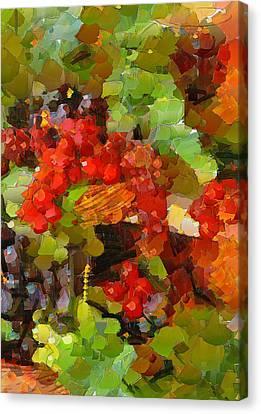 Still Life Fruits Canvas Print by Yury Malkov
