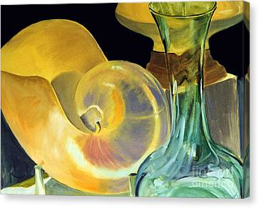Still Life Green And Yellow Canvas Print