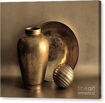 Still Life In Gold Canvas Print