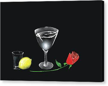 Canvas Print featuring the painting Still Life by Larry Cirigliano