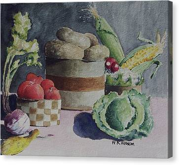 Still Life Number Four Canvas Print by W R  Hersom