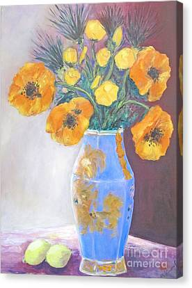Still  Life With Blue Vase Canvas Print by Barbara Anna Knauf