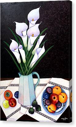 Alcatraz Canvas Print - Still Life With Callas by Madalena Lobao-Tello