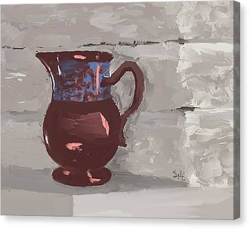 Still Life With Copper Luster Jug Canvas Print by Sarah Countiss