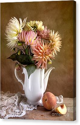 Still Life With Dahila Canvas Print