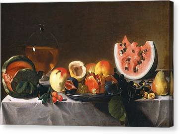 Still Life With Fruit And Carafe Canvas Print
