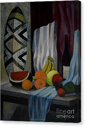 Still Life With Fruit Canvas Print by Jukka Nopsanen