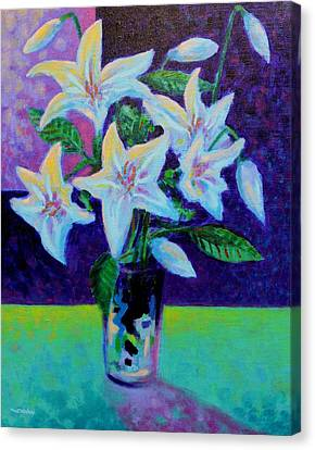 Still Life With Lilies Canvas Print by John  Nolan