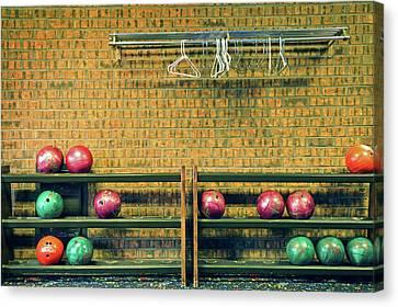 Still Life With No Glow In Dark Balls Canvas Print by E. Treffly Coyne