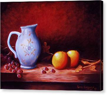 Still Life With Oranges  Canvas Print by Gene Gregory