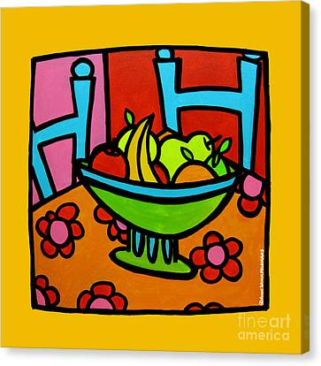 Still Life With Red And Pink Canvas Print by Anne Leuck