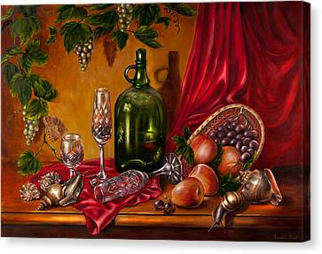 Still Life With Snails Canvas Print by Roxana Paul