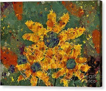 Stimuli Floral - S04ct01 Canvas Print by Variance Collections