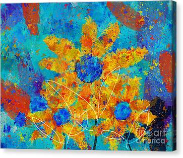 Stimuli Floral S01 Canvas Print by Variance Collections