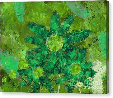 Stimuli Floral -s11bt01 Canvas Print by Variance Collections