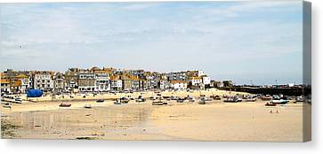 St.ives Bay.cornwall Canvas Print by Karen Grist