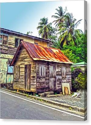 Stlucia - Rusted Shack Canvas Print by Gregory Dyer