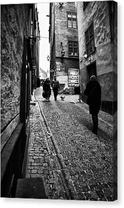 Business Beauties Canvas Print - Stockholm Old Town by Stelios Kleanthous