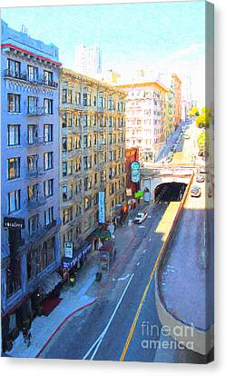 Stockton Street Tunnel In Heavy Shadow Canvas Print by Wingsdomain Art and Photography
