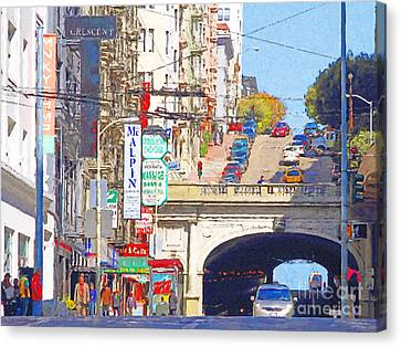 Stockton Street Tunnel In San Francisco . 7d7355 Canvas Print by Wingsdomain Art and Photography
