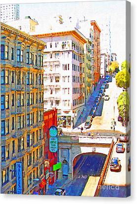 Stockton Street Tunnel In San Francisco . 7d7502 Canvas Print by Wingsdomain Art and Photography