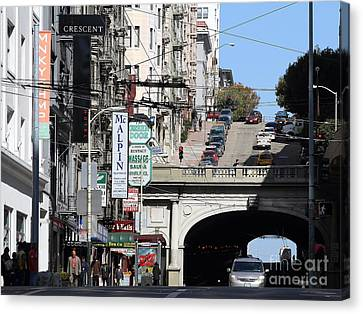 Stockton Street Tunnel San Francisco . 7d7355 Canvas Print by Wingsdomain Art and Photography