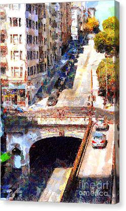 Stockton Street Tunnel San Francisco . 7d7499 Canvas Print by Wingsdomain Art and Photography