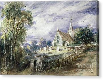 Stoke Poges Church Canvas Print by John Constable