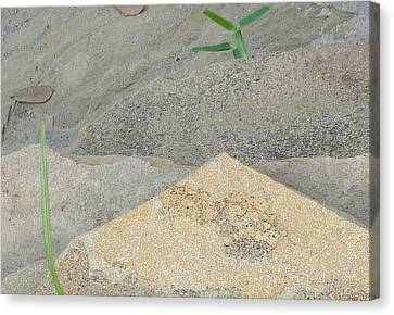 Canvas Print featuring the photograph Stone And Grass by Louis Nugent