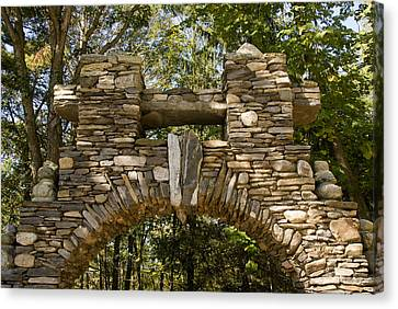 Stone Archway At The Entrance Canvas Print by Todd Gipstein