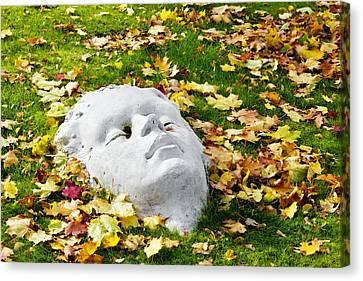 Stone Autumn Face Canvas Print by Aleksandr Volkov