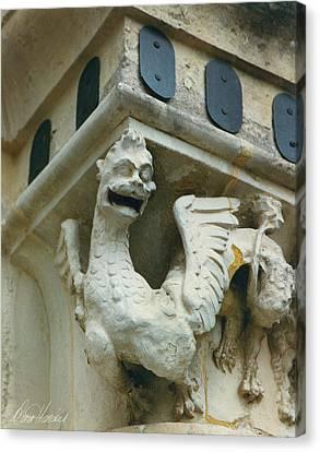 Gargoyle Lion Canvas Print - Stone Beastie by Diana Haronis
